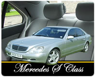 Silver Mercedes S Class graphic